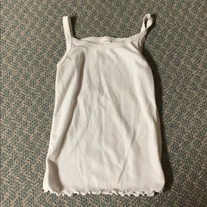 Strawberry Little Girls White Tank Top